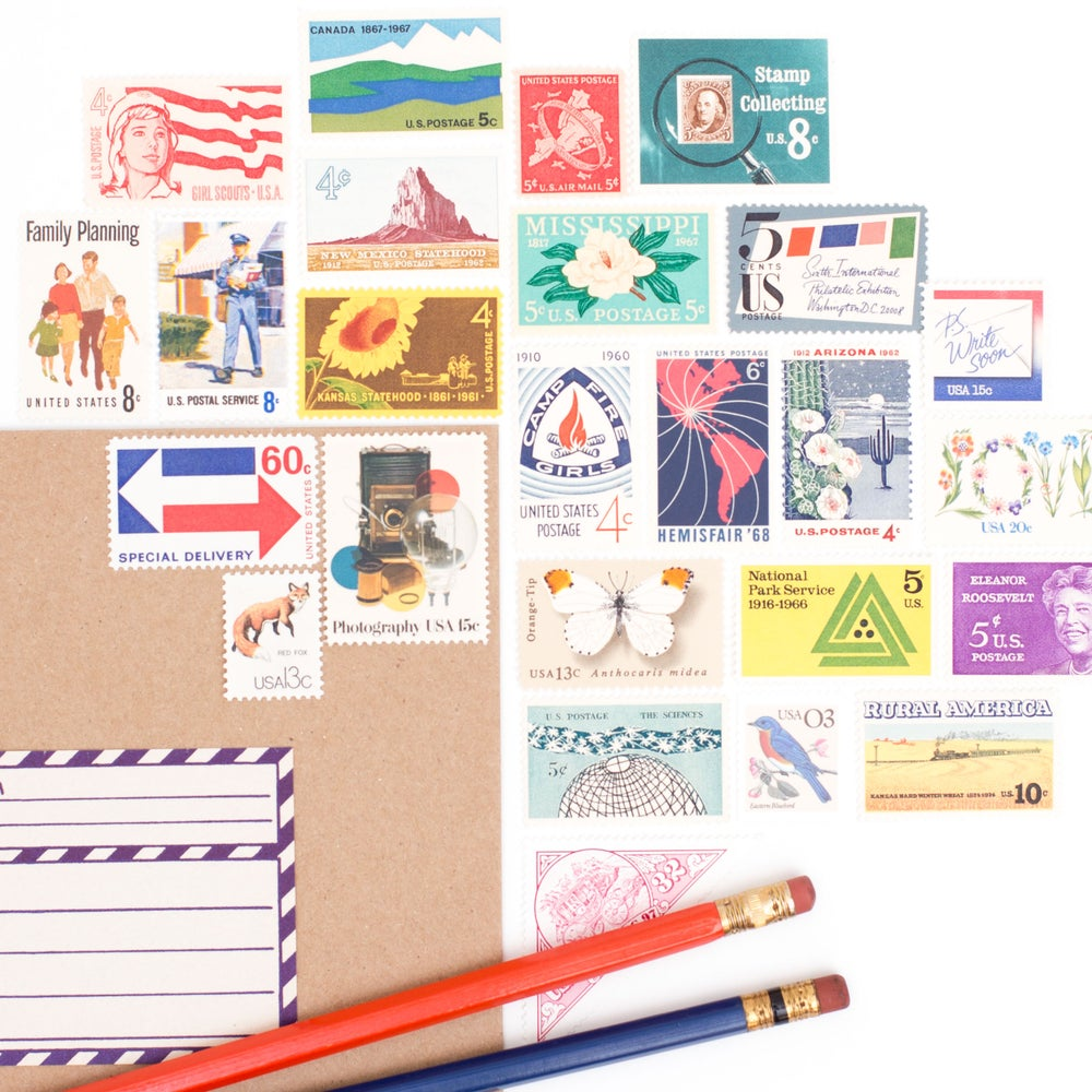 Image of Vintage Stamps for 5 / 10 / 20 Letters
