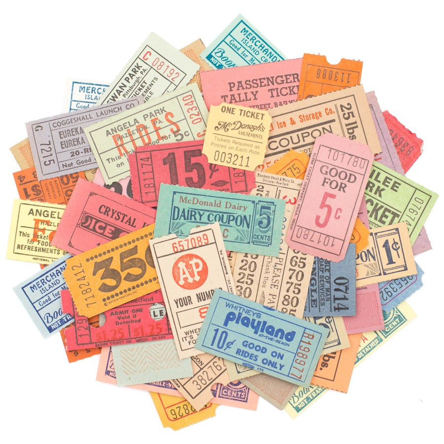 Image of Vintage Tickets - Set of 50