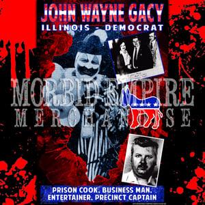 Image of JOHN WAYNE GACY Political Campaign Poster BLACK T-shirt