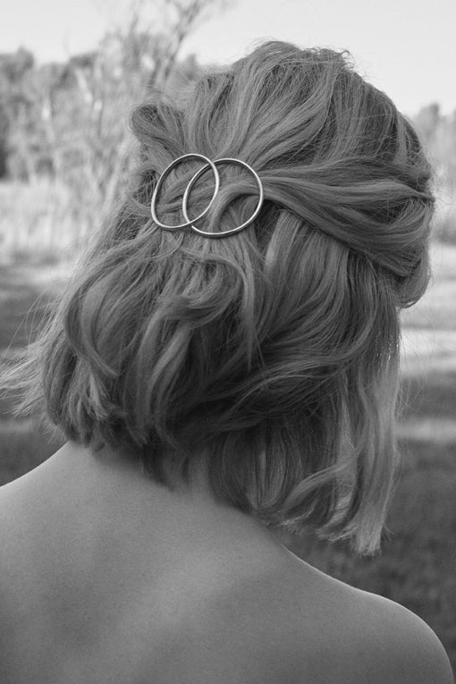 Image of SPICA hair barrette gold plated sterling silver