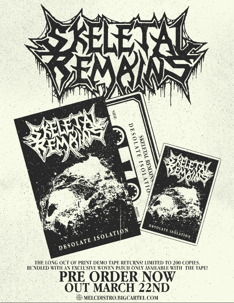 Image of Skeletal Remains Desolate Isolation Demo Pre Order