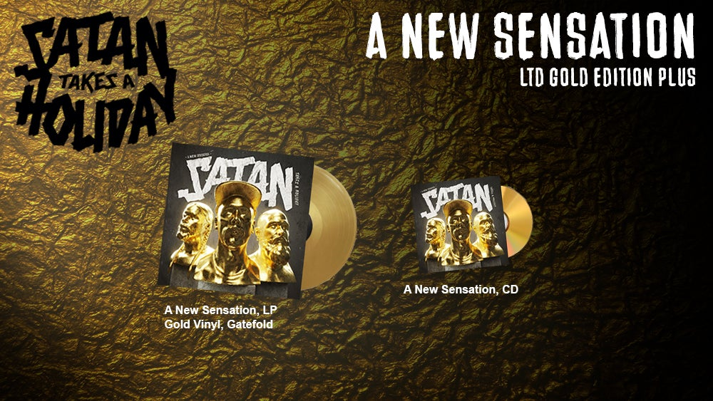 Image of Satan Takes A Holiday - LTD Gold Edition Plus (Vinyl/CD)