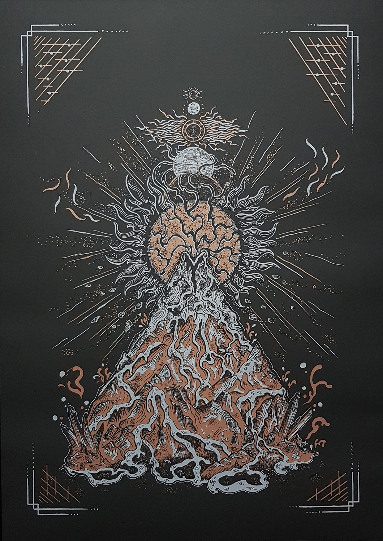 Image of Art Print 'RED SUN' (2018)