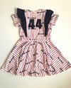 Full Body Flutter Pinstripe Stitch Dress Custom Baseball