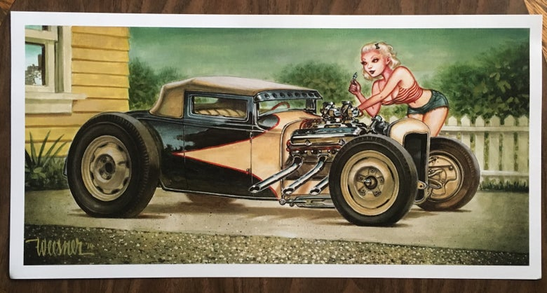 Image of Competition Coupe (litho print)