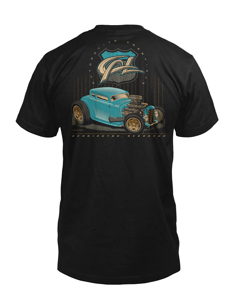 """Image of Cal Auto Creations """"Model A"""" Shirt"""