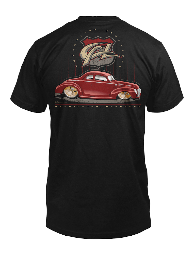"""Image of Cal Auto Creations """"40 Ford - Checkered Past"""" Shirt"""