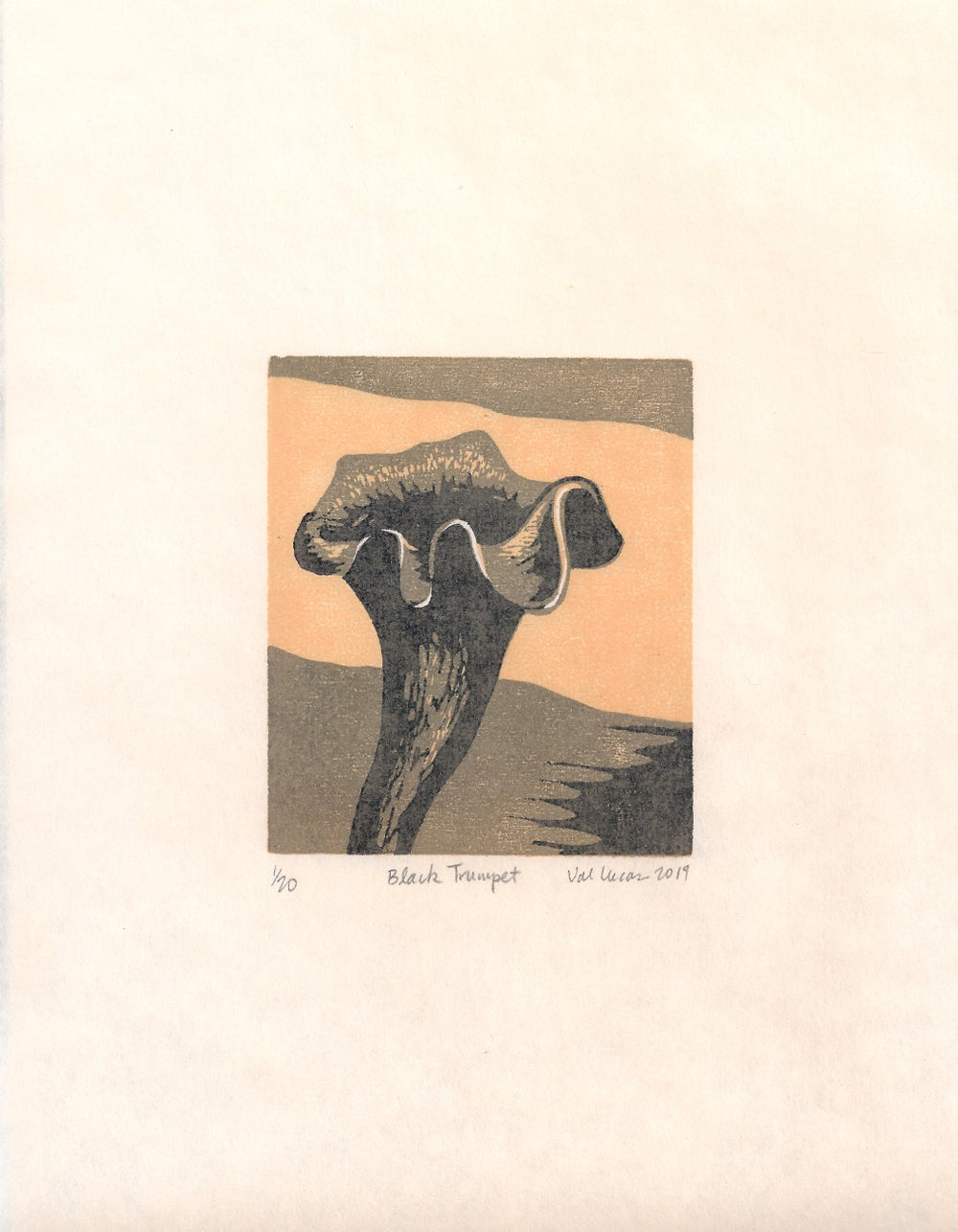 Image of Black Trumpet Print