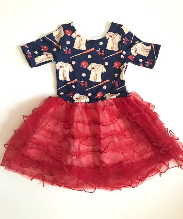 Image of Cupcake Ruffle Bottom Custom Baseball Vintage Dress