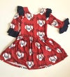 Circle Sleeve Daddy's Girl Heart Back Custom Baseball Dress