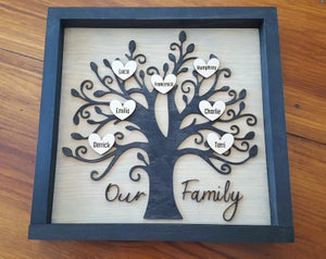 Image of Layered 3D Family Tree