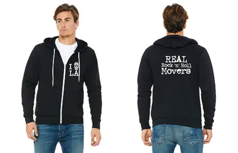 Image of REAL RocknRoll Movers Zip-Up Hoodie