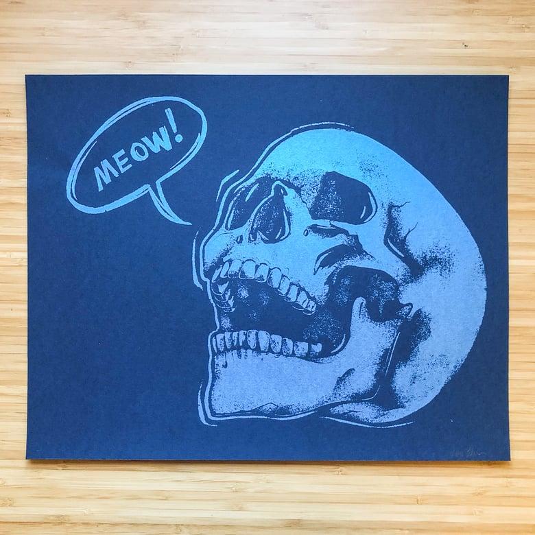 Image of Meowskull (Silkscreen Print)