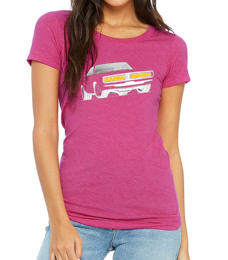 Image of Women's Manda Mosher Charger Car Tee In Berry