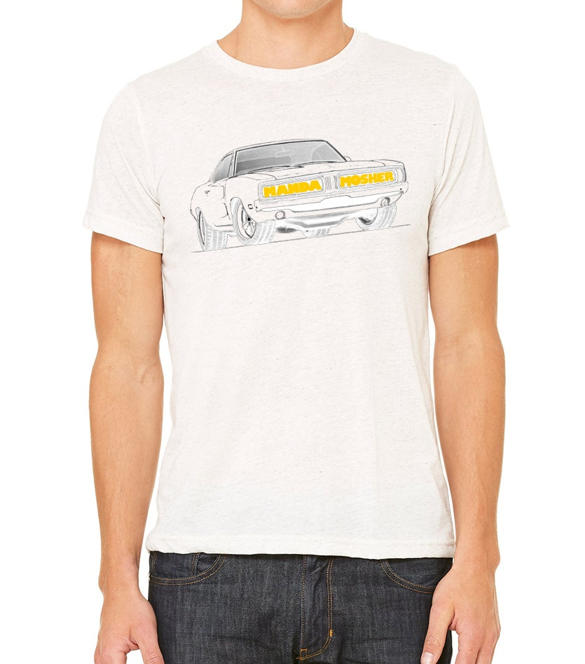 Image of Men's Manda Mosher Charger Tee in White