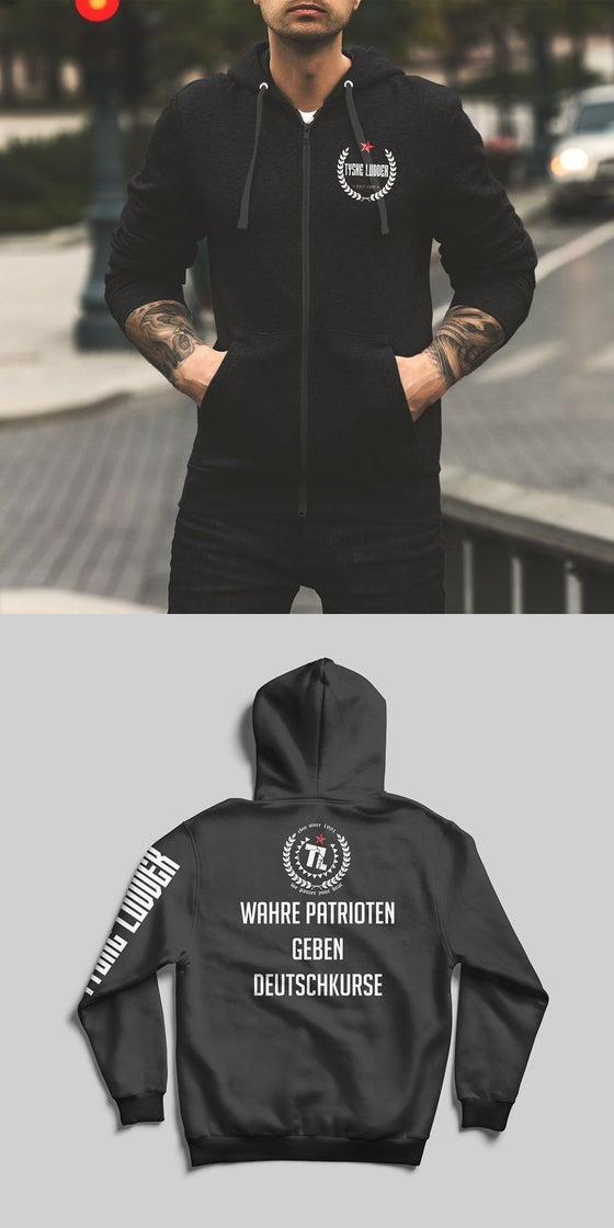 "Image of Tyske Ludder ""WAHRE PATRIOTEN"" - hooded jacket"