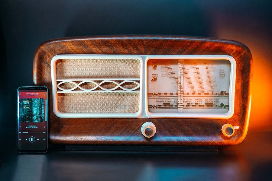 Image of PHILIPS BI320A (1955) RADIO D'EPOCA BLUETOOTH