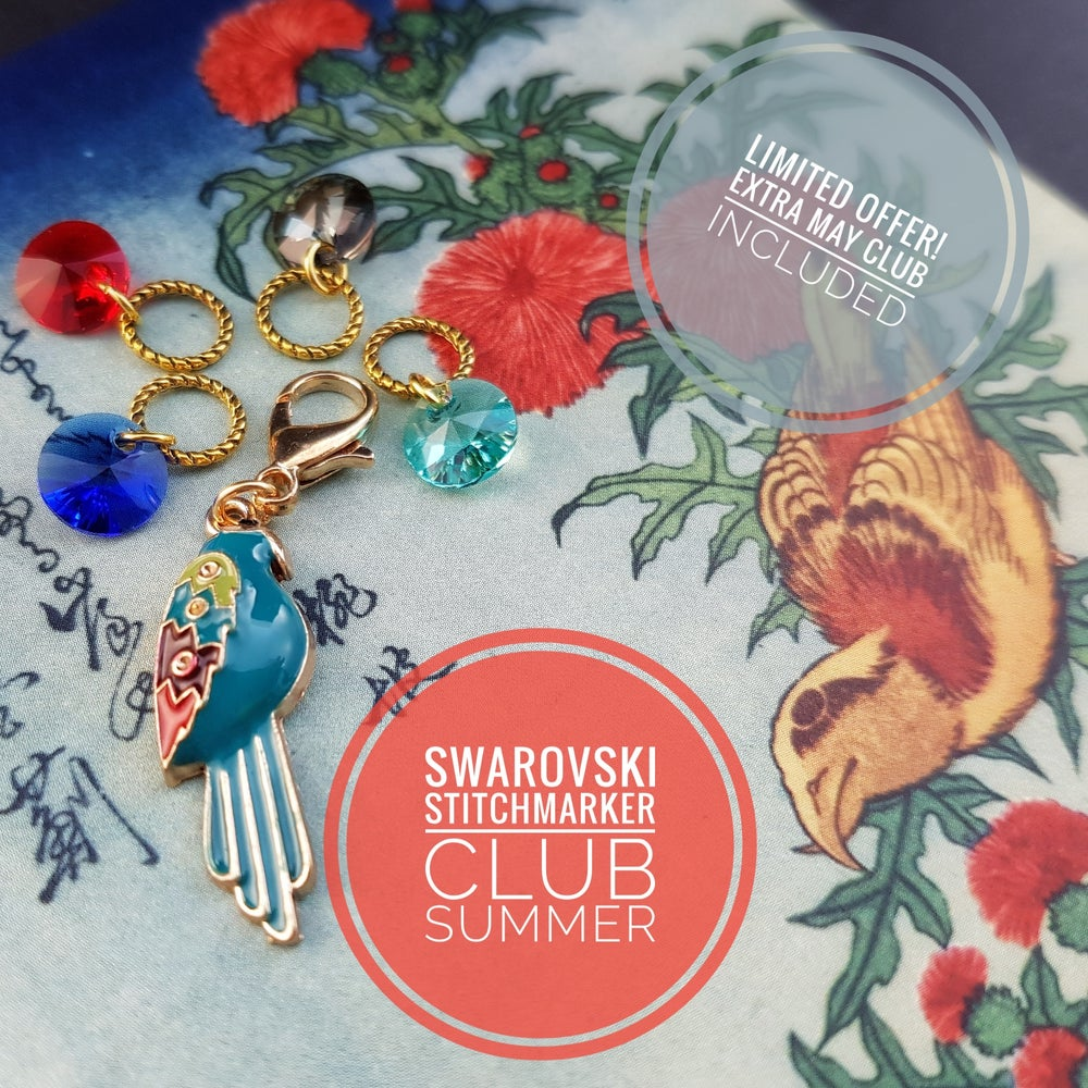 Image of LIMITED OFFER!  SUMMER SWAROVSKI STITCHMARKER CLUB + bonus MAY club package!