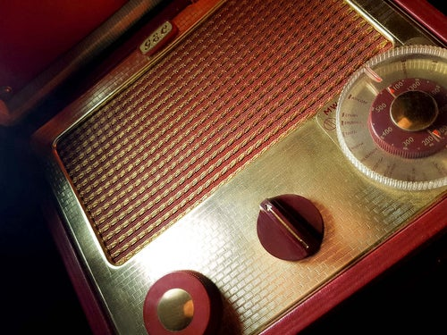 Image of GEC 1452 SUITCASE (1957) RADIO D'EPOCA BLUETOOTH