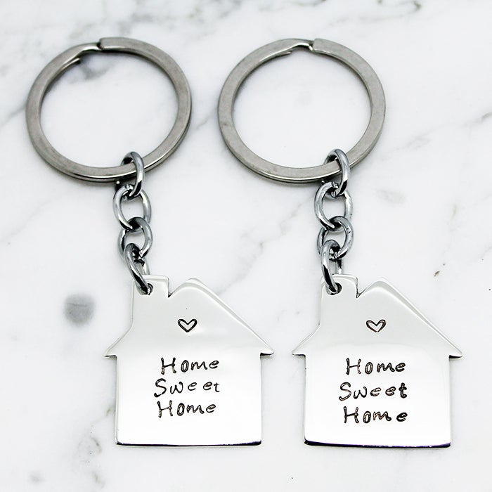 Image of Personalised House Key Ring Set