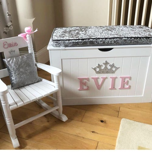 Image of Bundle 2 *** Cushion Top Chest and Rocking Chair with Cushion ***