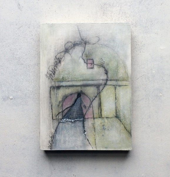 Image of Little Greenhouse...Mixed Media Painting