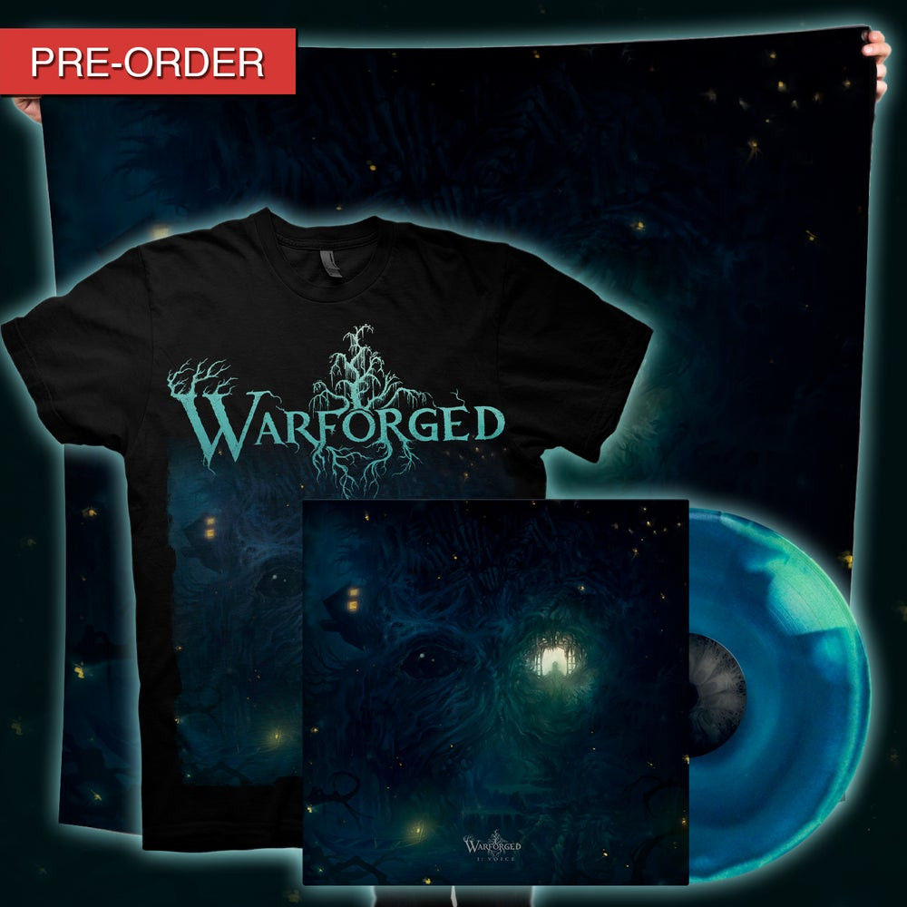 Image of WARFORGED - I: Voice - Voice Flag/LP Bundle