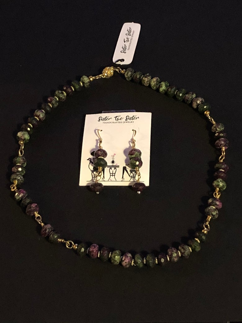 Image of Anyolite Necklace and Earring Set