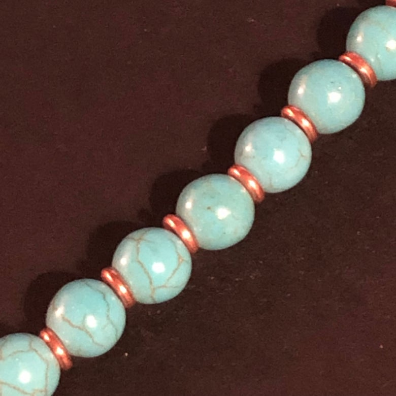 Image of Qiwan Turquoise Necklace and Earring Set