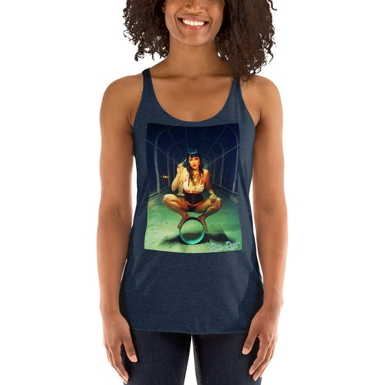 Image of It's Called Balance Rosie Riott Racerback Tank in Navy Blue