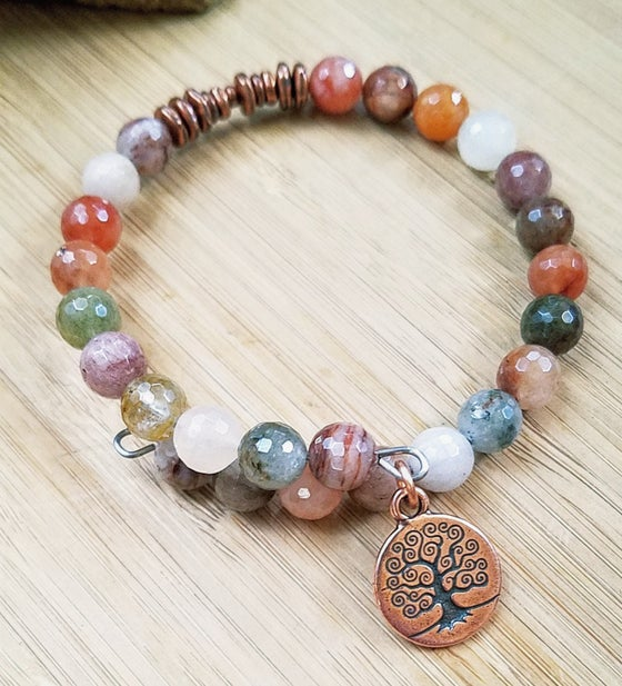 Image of Multi Color Agate Bracelet