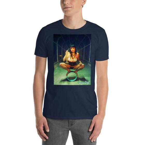 Image of It's Called Balance Rosie Riott Unisex Tee in Navy Blue