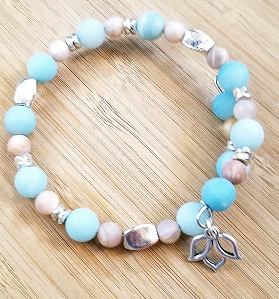 Image of Moonstone and Amazonite Bracelet