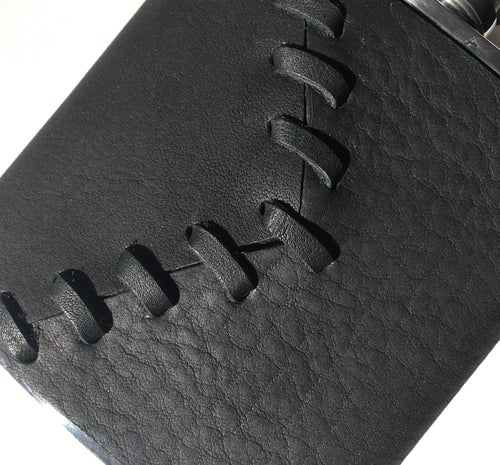 Image of Leather-Wrapped Flask