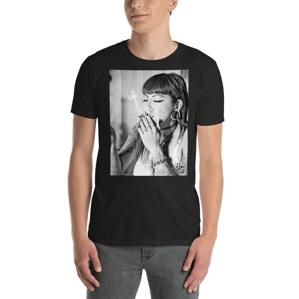 Image of Your HIGHness Rosie Riott Unisex Tee in Black