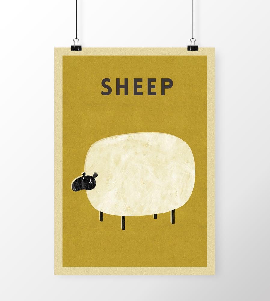 "Image of A3 ""SHEEP"" Print"