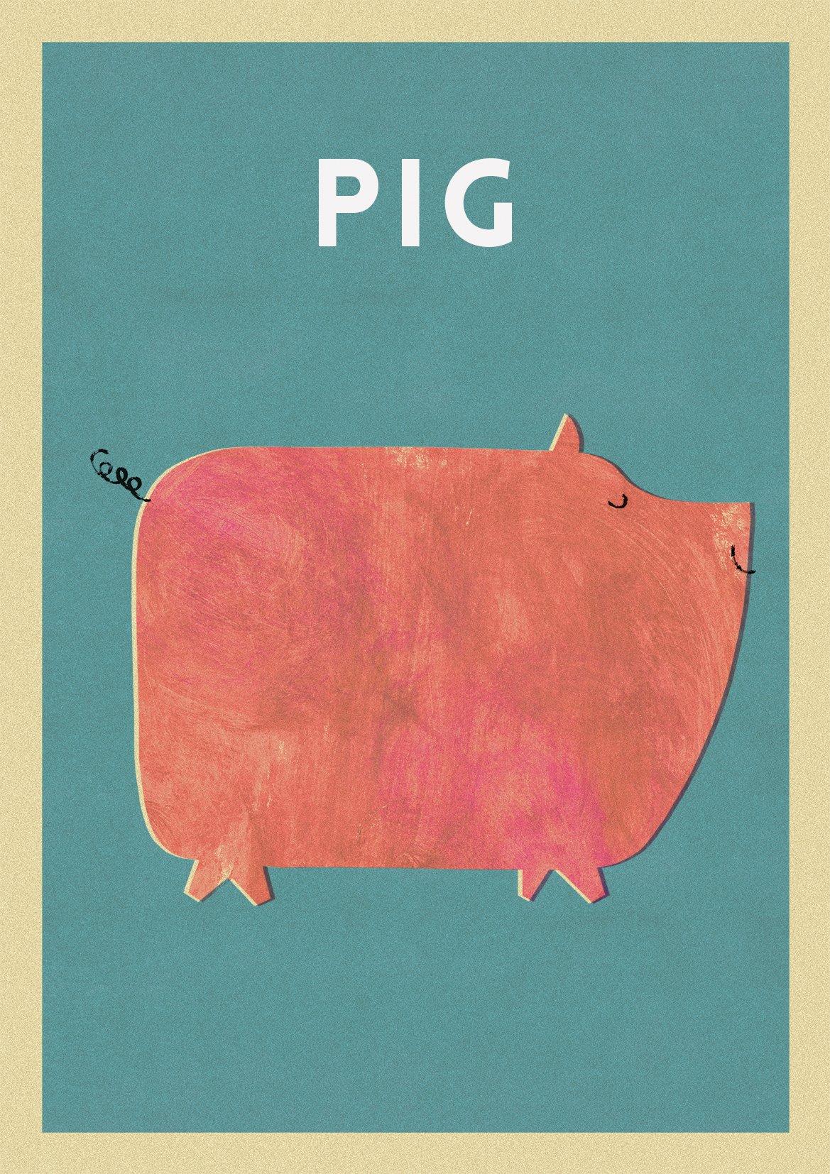 "Image of A3 ""PIG"" Print"