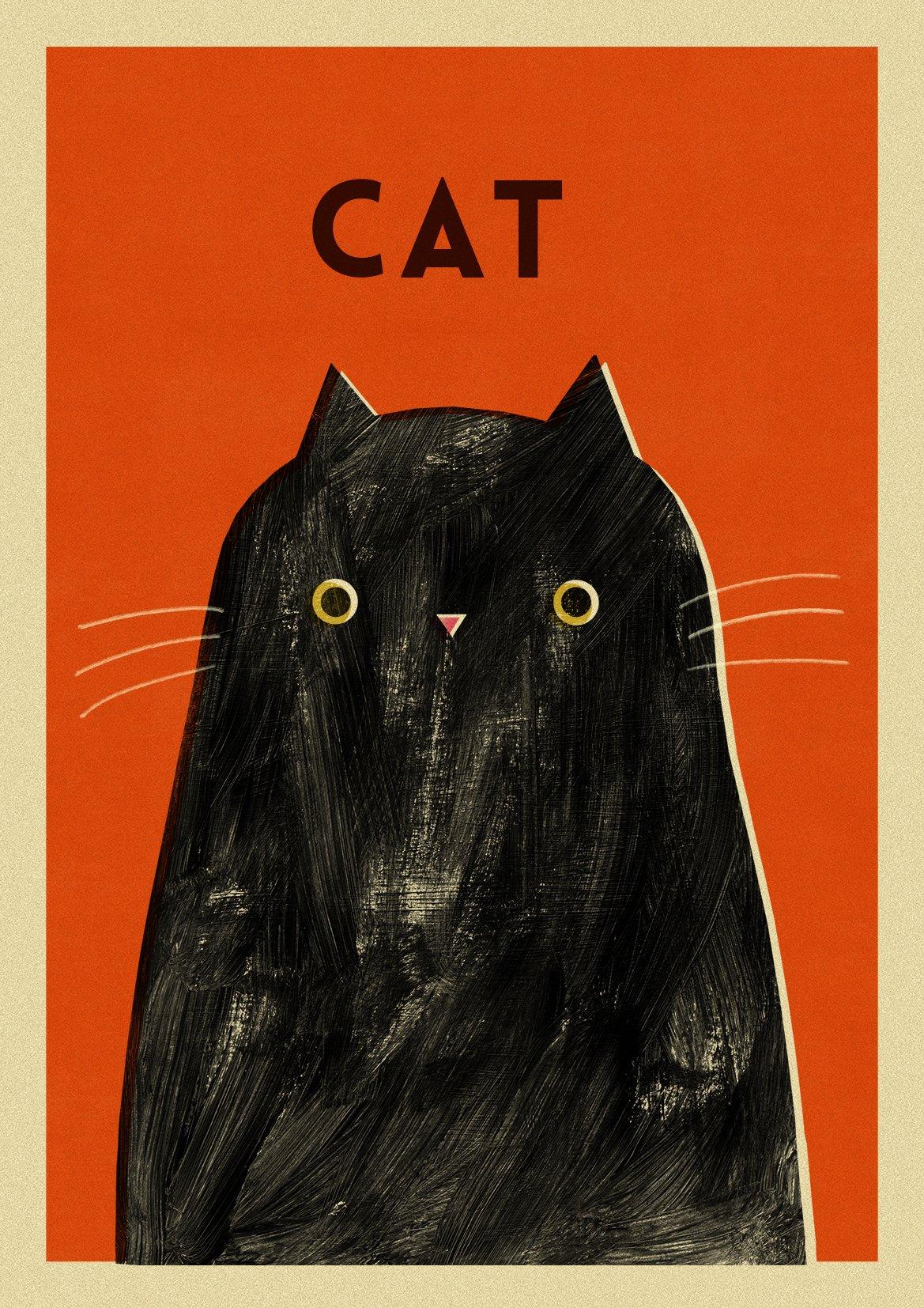 "Image of A3 ""CAT"" Print"