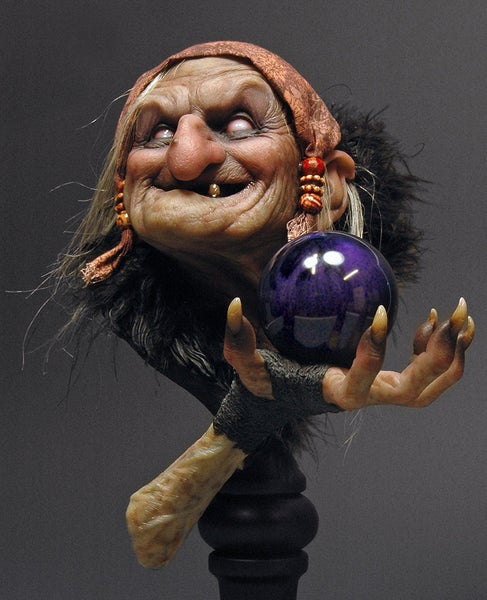 Image of Andy Bergholtz's Maleva The Spell Resin Bust (Fully Painted & Model Kit)