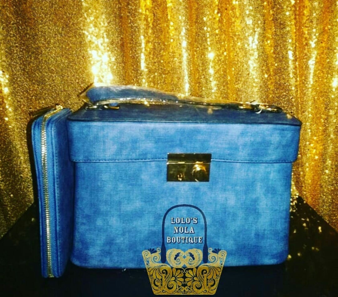 Image of Denim Handbag Set