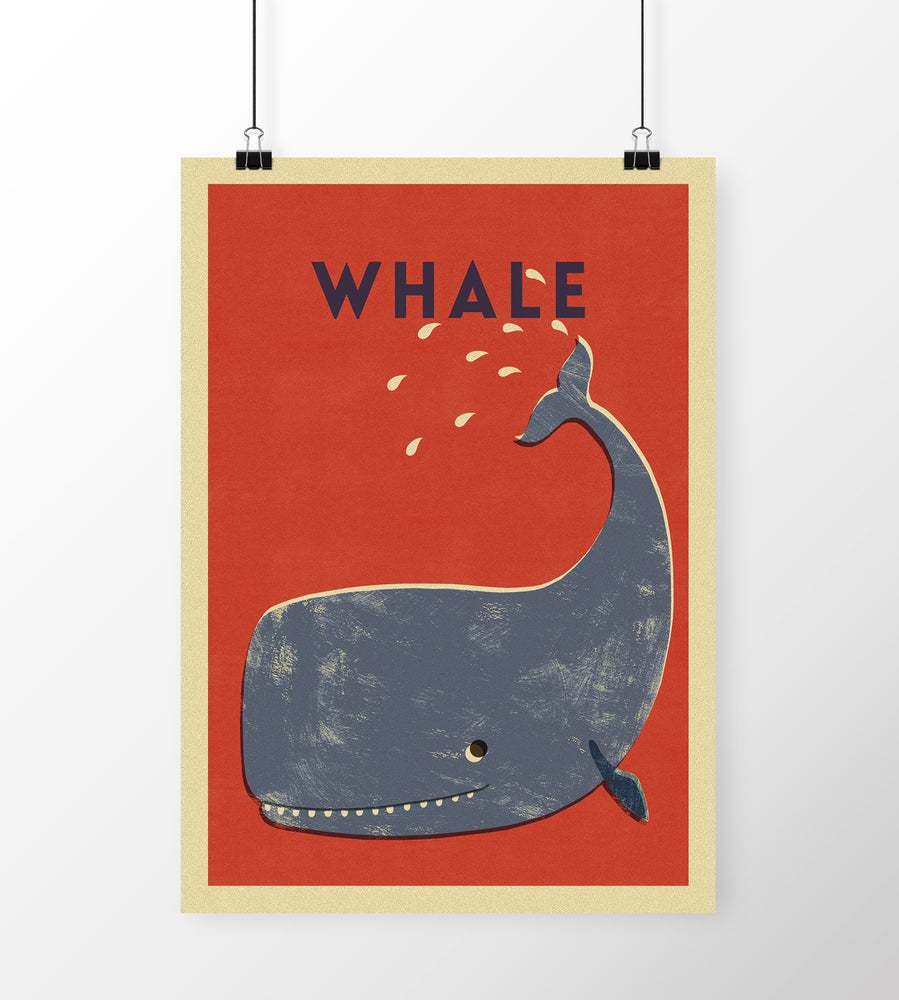 """Image of A3 """"WHALE"""" Print"""
