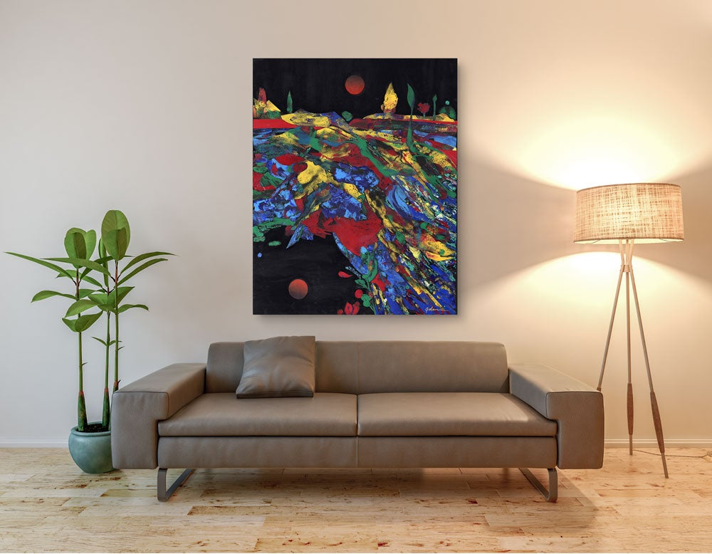 "Image of ""Moon Reflection"" Canvas Print"