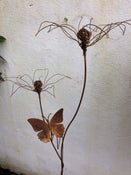 Image of Lily and butterfly plant support