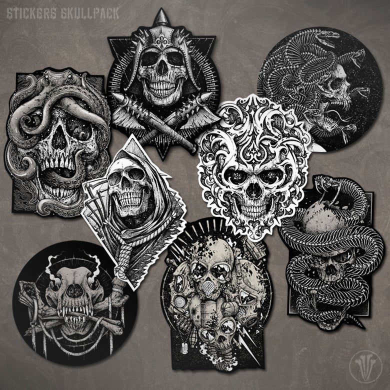 Image of 8 Stickers Skullpack