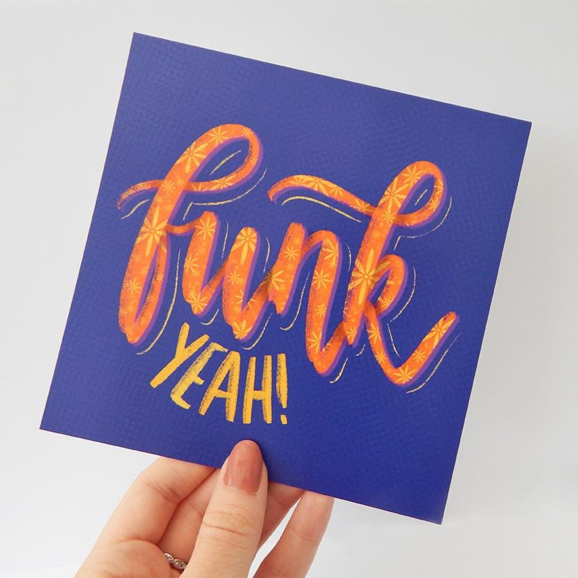 "Image of Funk Yeah! – Hand Lettered Print (6"" x 6"")"