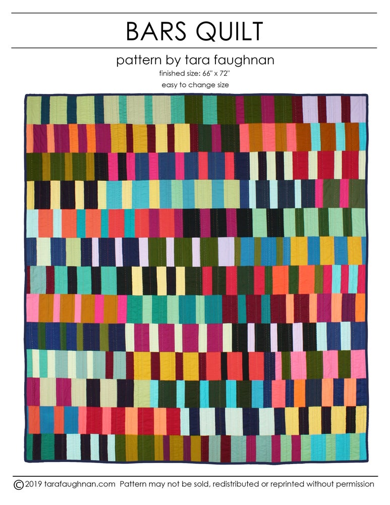 Image of Bars Quilt Pattern PDF