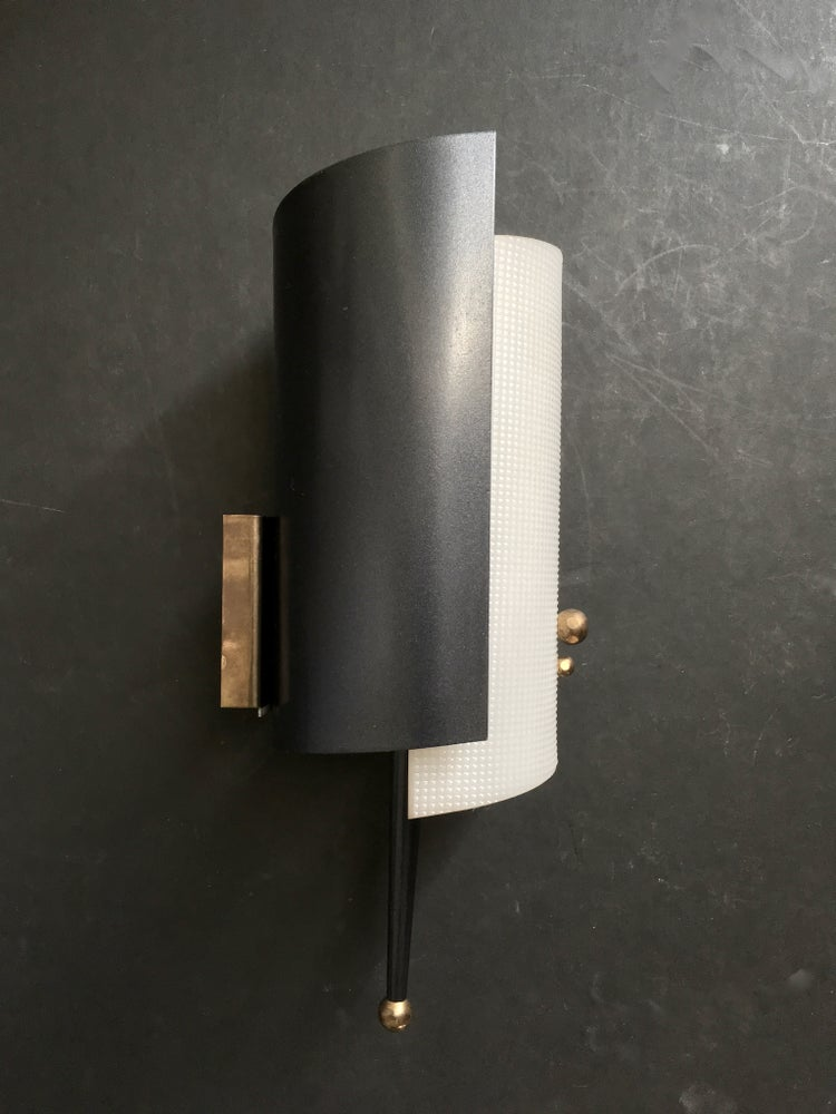Image of Pair of Petite Mid-Century Atomic Sconces