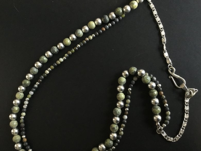 Image of African Turquoise Double Strand Necklace