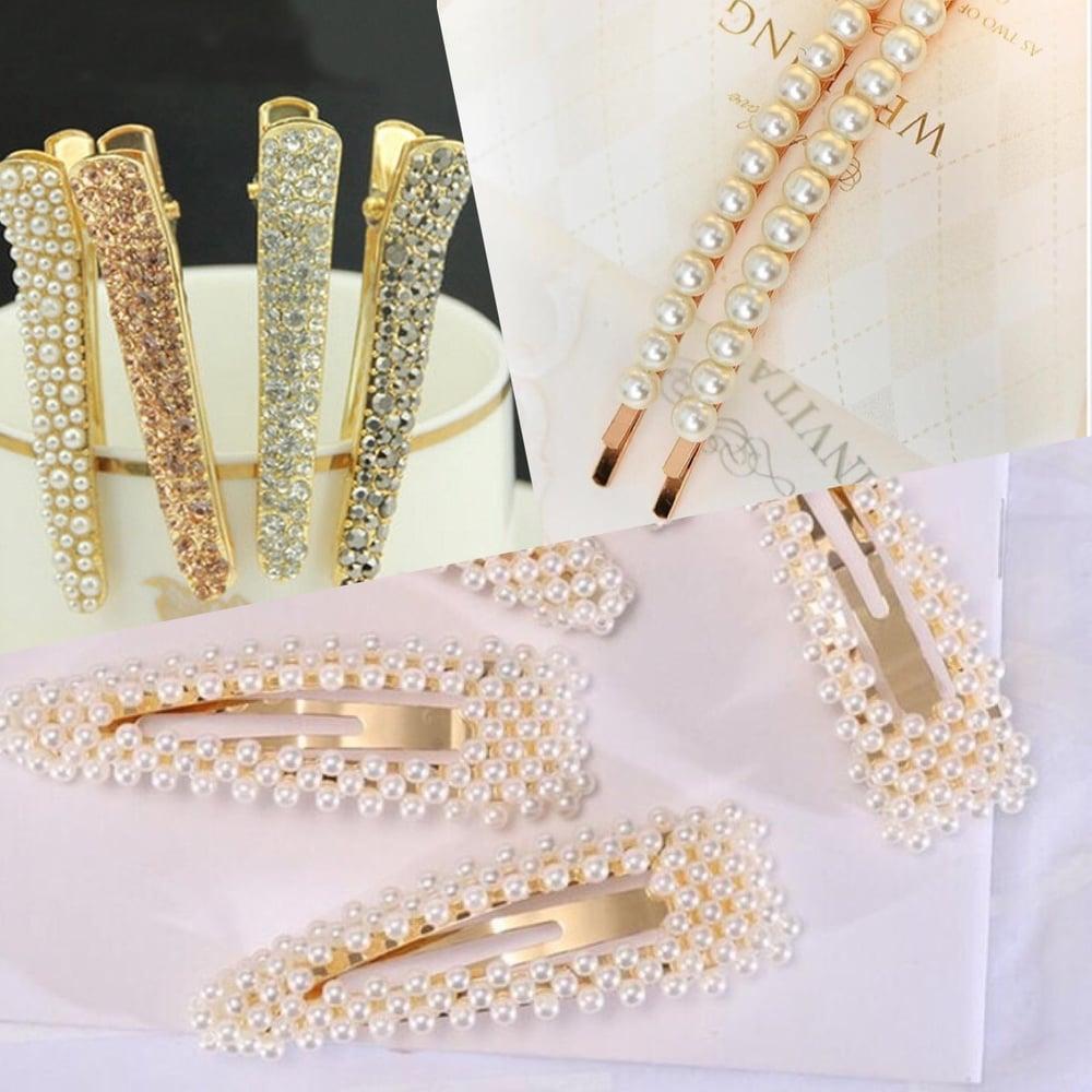 Image of Oversized Embellished hair slides