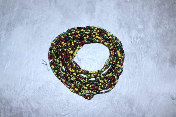 Image of Elastic Rasta Inspired Mini Waist Bead